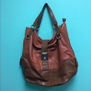 Big Buddha Leather Tote/Shoulder Bag